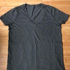 Madewell Olive Green V Neck T-shirt